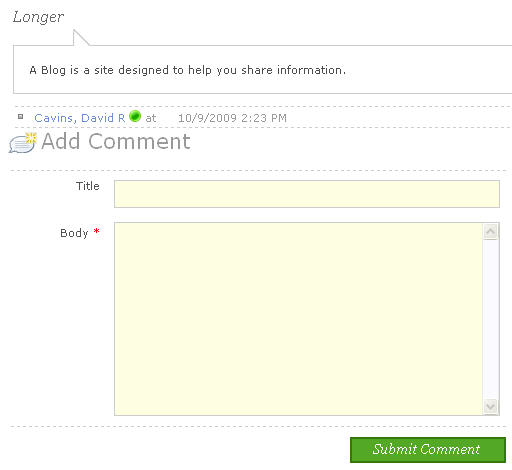 Better looking comment form