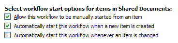 Allow the workflow to be started manually.