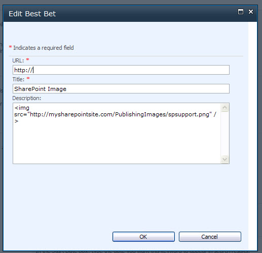 SharePoint 2010 search best bets setup