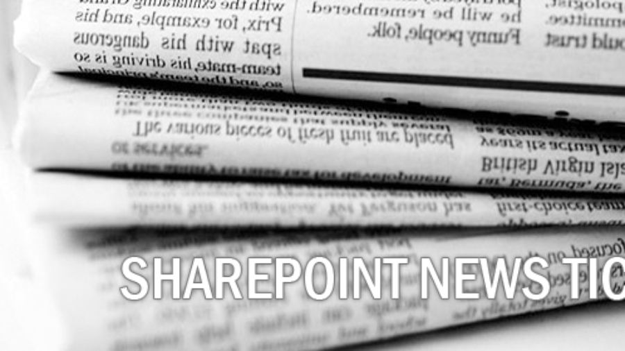 SharePoint News Ticker